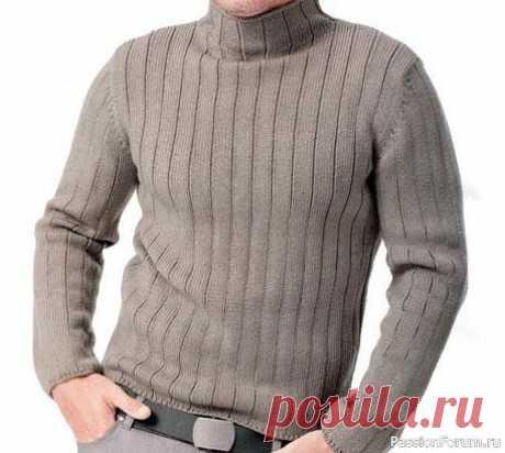 Мужская водолазка. Описание   Вязание для мужчин спицами. Схемы вязания