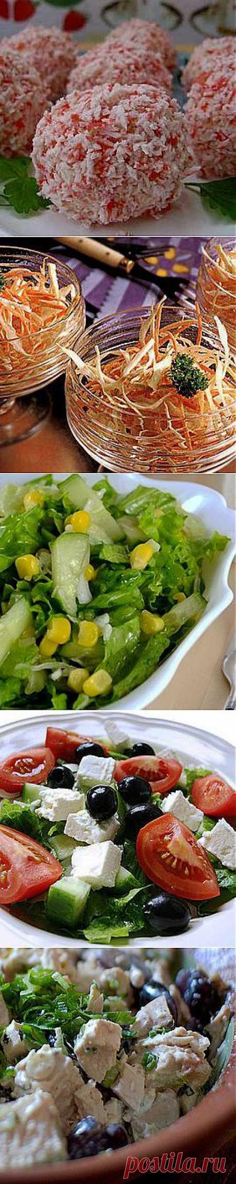 Салаты на скорую руку - рецепты салатов на скорую руку от известных шеф-поваров с фото
