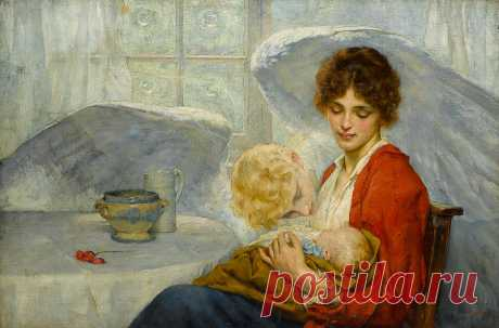 The Guardian Angel Painting by William Arthur Breakspeare