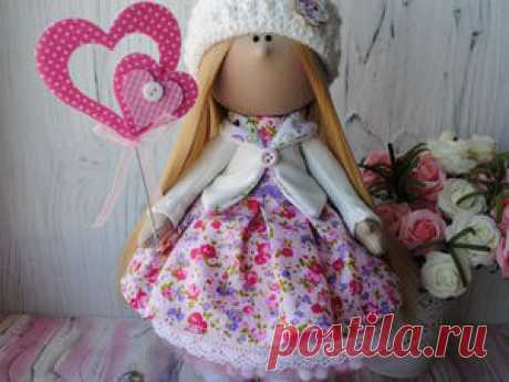 Шьем интерьерную текстильную куколку «от» и «до» - Ярмарка Мастеров - ручная работа, handmade