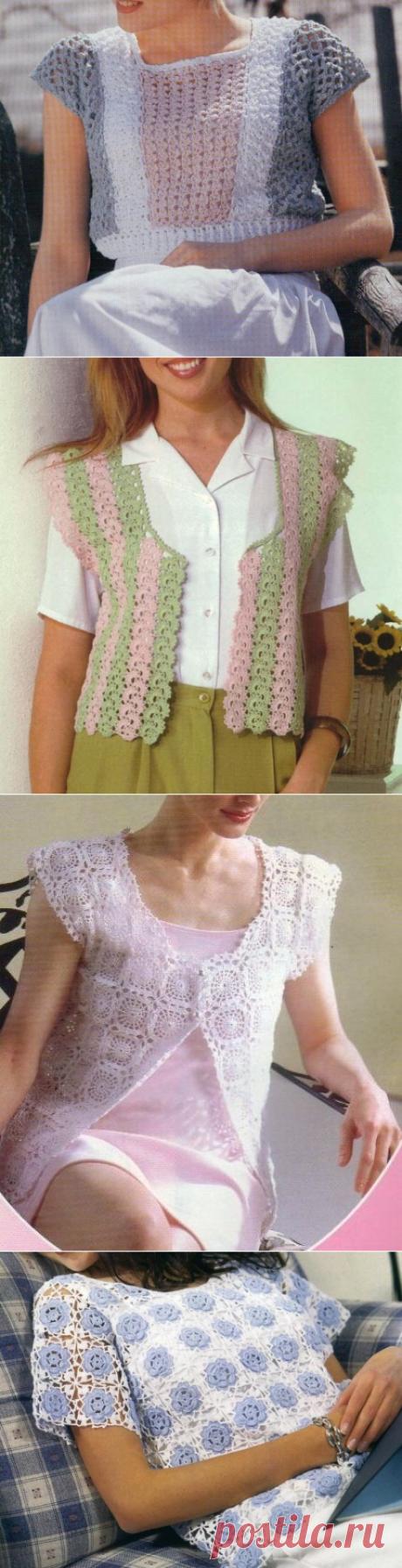 Подборка летних маек, топов, кофточек крючком, со схемами | Sana Lace Knit | Яндекс Дзен