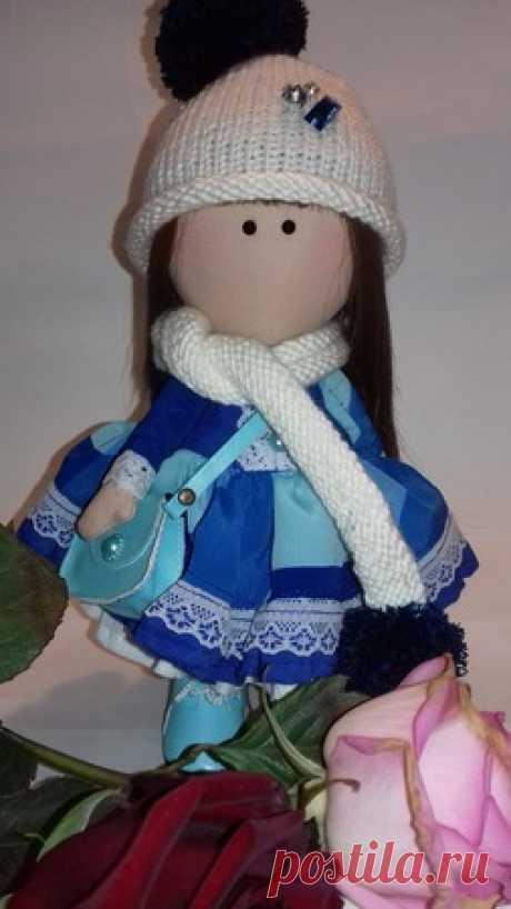 """Кукла ручной работы """"Василек"""" – купить в интернет-магазине HobbyPortal.ru с доставкой"""