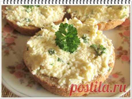 """Бутерброды с яйцом и зеленью """"По-быстрому"""""""
