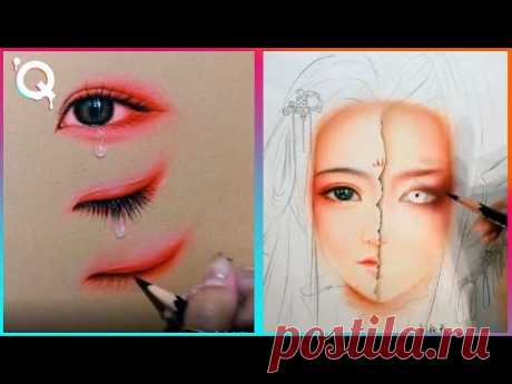 Unbelievable Artist Shows How to Draw Faces Step by Step - YouTube
