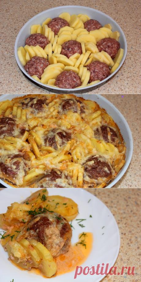 Тефтели запеченные с картофелем - запись пользователя Татьяна (id1996293) в сообществе Кулинарное сообщество в категории Блюда из мяса - Babyblog.ru