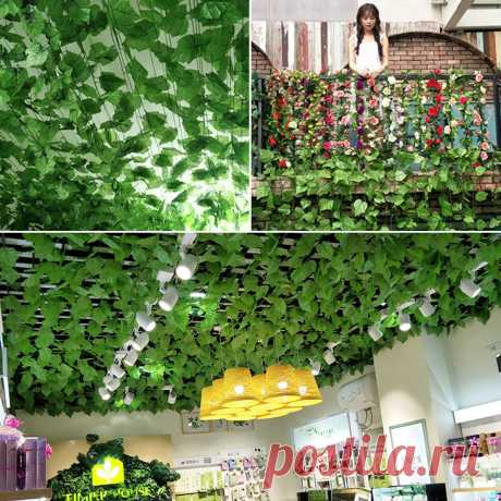 Simulation Creeper Rattan Plastic Leaves Small Leaves Winding Heating Pipe Decor - US$1.39