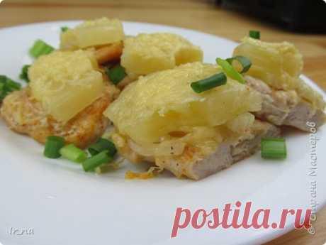 Куриное филе с ананасами в сырной шубке   Страна Мастеров