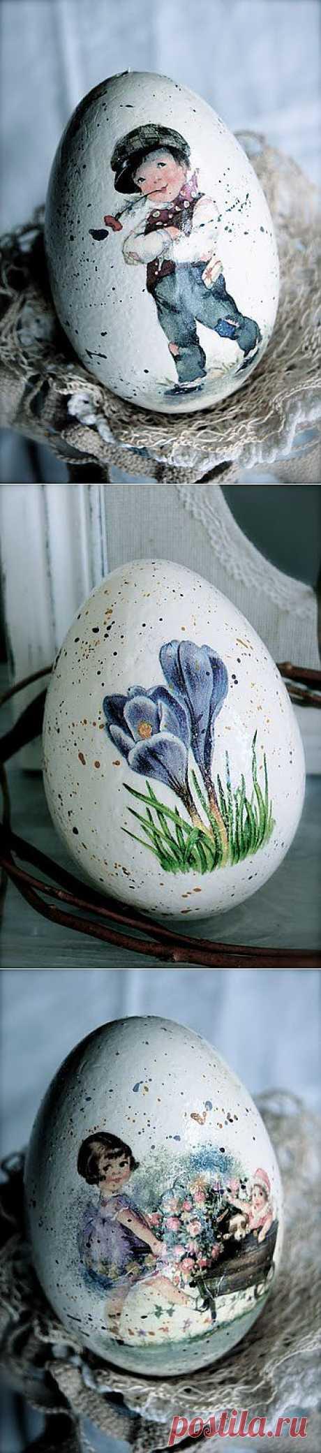 Прекрасные пасхальные яйца от Anna, Польша. Работы и мастер-класс.