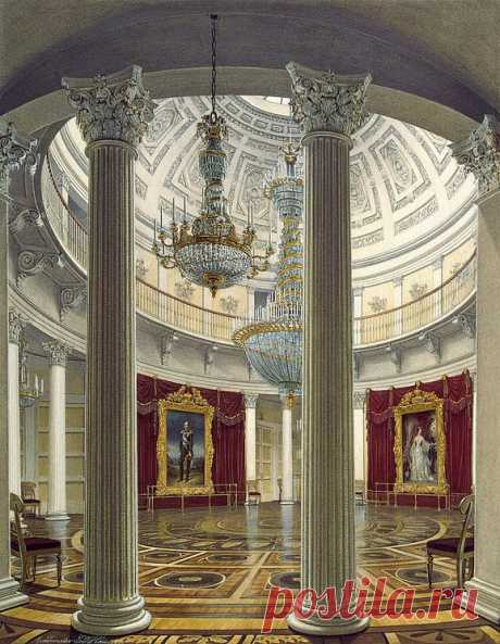 Rotunda in the Winter Palace - Edward Petrovich Hau - Hermitage Museum