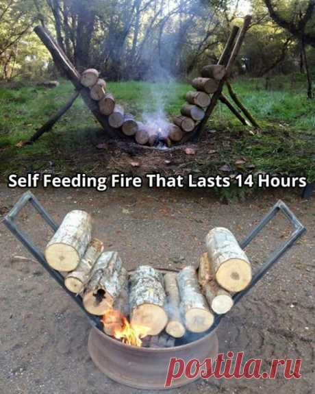 Self Feeding Campfire Lasts 14 Hours - Video Tutorial | The WHOot