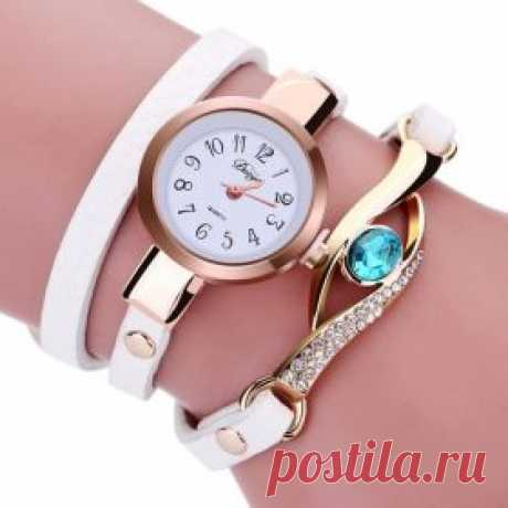 Недорогие женские часы с красивым браслетом и стразами на Алиэкспресс