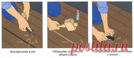 Как устранить скрип половиц, не перестилая пол