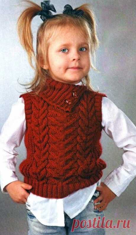 Жилет для девочки - Для детей до 3 лет - Каталог файлов - Вязание для детей