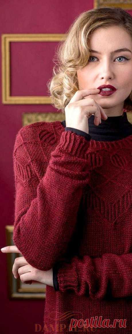 Пуловер с круглой кокеткой «Дувр» — HandMade