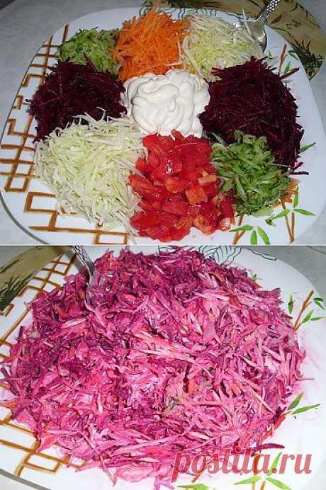 Салат ассорти из свежих овощей   Рецепты моей мамы