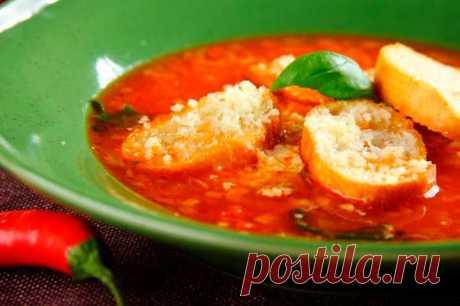 Тосканский суп из помидоров с сыром и гренками – пошаговый рецепт с фото.