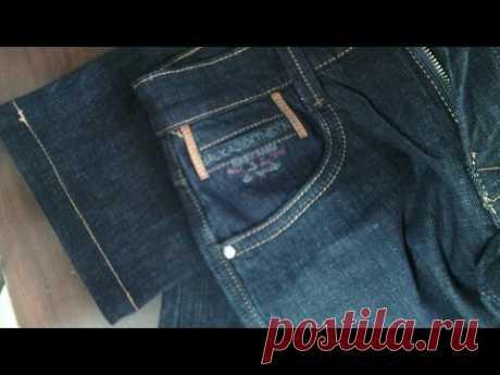 Как укоротить и подшить джинсы. Мастер класс от Ирины Тимофеевой