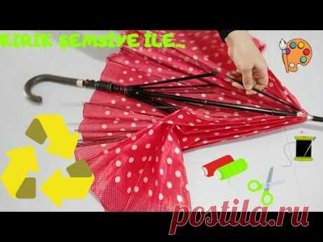 Geri Dönüşüm Fikirleri  , Kırık Şemsiye ile ne yapılır , boyama önlüğü - YouTube