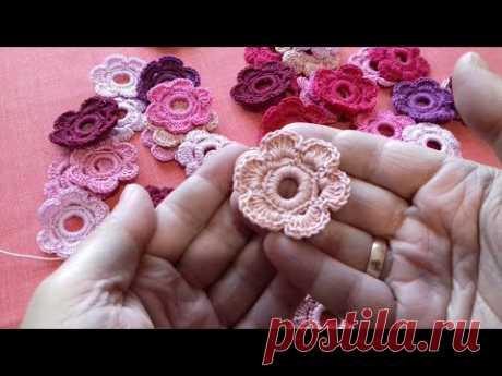 Оригинальный цветок крючком для блузы в стиле ирландского кружева