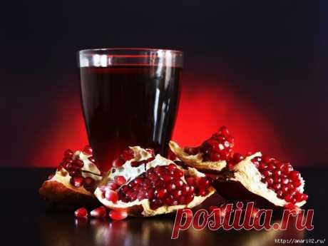 Garnet liqueur by a holiday
