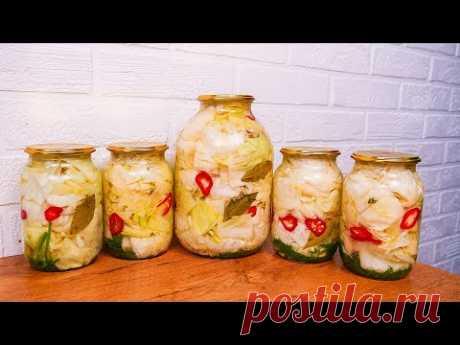 Ленивая КАПУСТА - Самый Вкусный Салат на зиму! Лучший рецепт проверенный ГОДАМИ!
