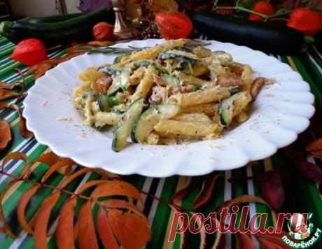 Паста карбонара с цуккини – кулинарный рецепт