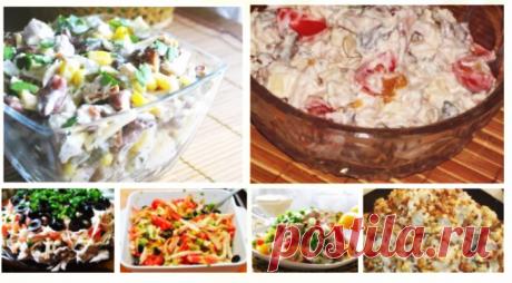 6 рецептов салатов с филе курицы