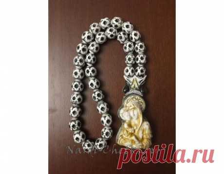 """Купить православные четки """"Божья Матерь"""" с молитвой"""