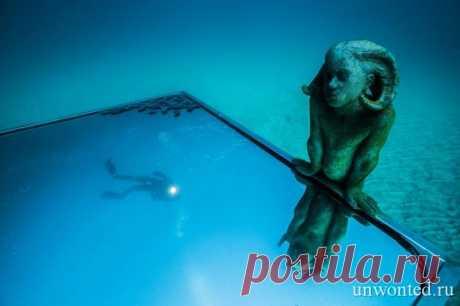 Удивительные подводные скульптуры острова Лансароте