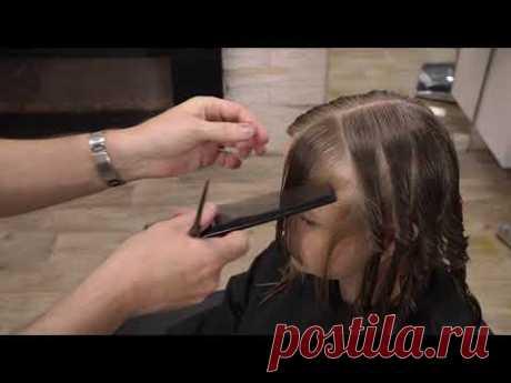 Красивая удобная модная стрижка 2020 итальянка для тонких и волнистых волос