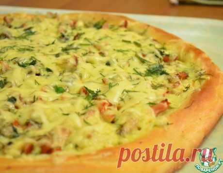 """El pastel-pizza """"По-деревенски"""""""