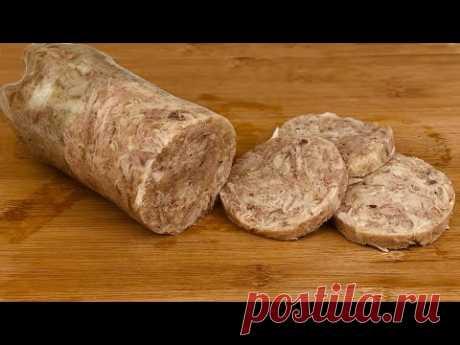 Положила окорочка в бутылку и получила колбасу Натуральная колбаса, мясо и приправа №29.