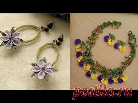 Beautiful oya crochet jewelry design
