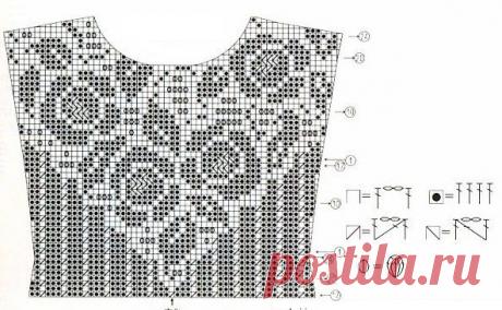 Филейное вязание крючком схемы с описанием