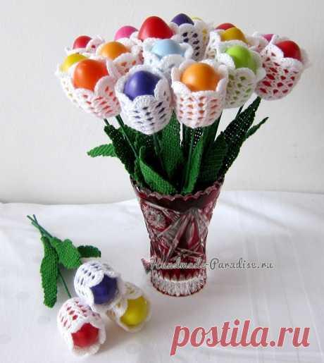 Пасхальные яйца «Тюльпаны»