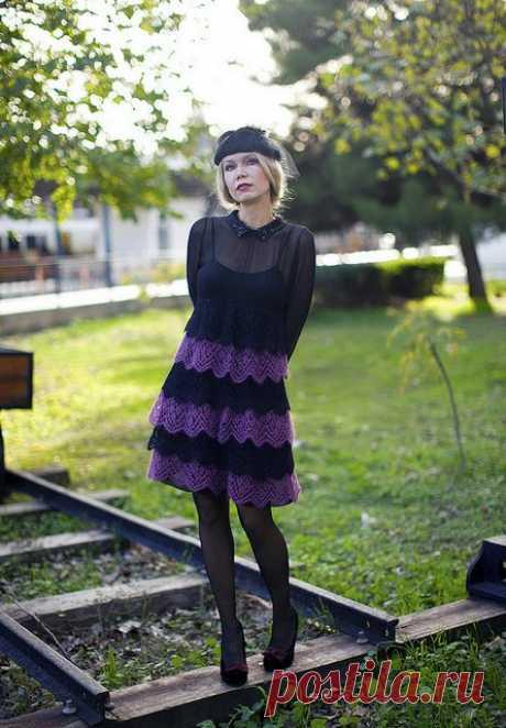 Из остатков пряжи или вязаное платье от Жаннетты Мирмизетты. Ну, просто супер | razpetelka.ru