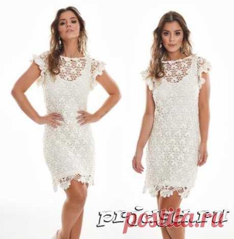 Снежное платье крючком