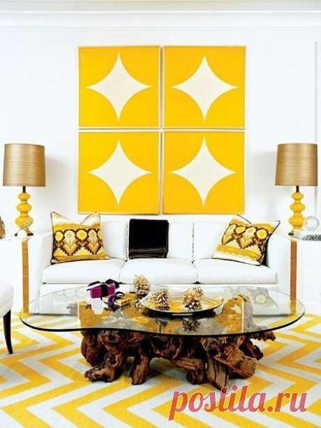 Простые формы и контрастные цвета — Интерьер и Декор
