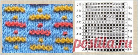 30 схем для многоцветного вязания на спицах для тех, кто НЕ любит вязать жаккардом