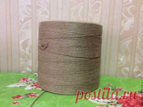 Джутовая пряжа для вязания эко ковров в стиле прованс из категории Барахолка – Вязаные идеи, идеи для вязания