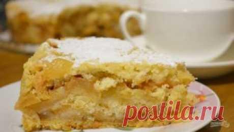 """Пирог с яблоками """"Лентяйский"""" - пошаговый рецепт с фото на Повар.ру"""