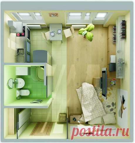 Современный дизайн интерьера маленькой квартиры, 50 фото дизайнерских идей