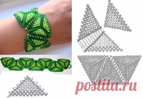 Простые схемы плетения из бисера — Сделай сам, идеи для творчества - DIY Ideas