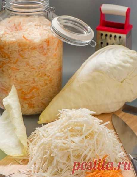 Полюбите квашеную капусту, если хотите иметь богатырское здоровье  Квашеная капуста относится к так называемым ферментированным продуктам. Ферментация – это, говоря простым языком, - брожение.  Технологии обработки пищевых продуктов, связанные с брожением, могут называться по-разному. К примеру, всем нам известное квашение (связанное с деятельностью молочнокислых бактерий).  Польза данного продукта объясняется наличием в нем высокого процента витамина С. Но это еще не все....