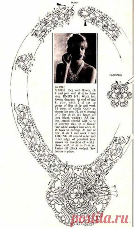 """Charmants bijoux, entre colliers, chouchous, bijoux main et pied, bracelets, trouvés sur la page facebook de """"Jeannette Jeraldine"""", avec ses grilles gratuites! Passionnée de Crochet ..."""