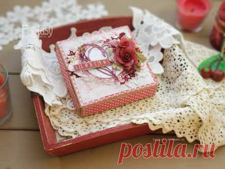 Мечтать не вредно: Коробочка с признанием в любви  коробочка ко дню святого Валентина, скрапбукинг