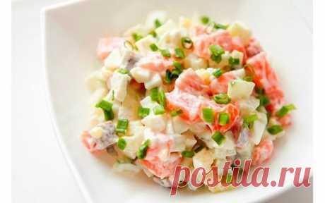 Дивовижно смачно — салат з червоною рибою Це незвичайна закуска.