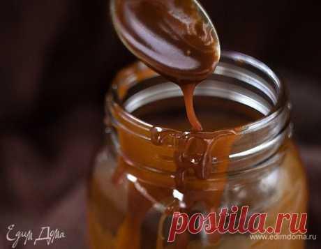 Домашняя соленая карамель. Ингредиенты: сахар, сливочное масло, сливки 33-35%