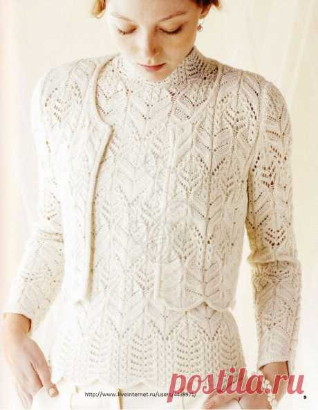 Knitted spokes two ։ Top and Jacket. Japanese openwork!