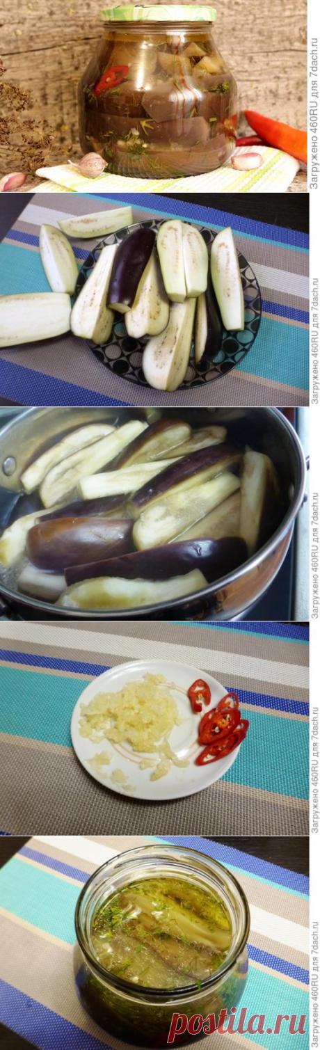 Баклажаны с чесноком на зиму (без стерилизации). Пошаговый рецепт с фото